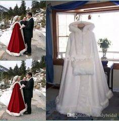 Buy Ivory Cape Bridal Wedding Cloak Hooded Coat Jackets Wraps Faux Fur Mantles muff at Wish - Shopping Made Fun Wedding Coat, Wedding Jacket, Wedding Veils, Wedding Dresses, Capes, Bridal Cape, Cloak, One Shoulder Wedding Dress, Marie