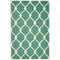 Safavieh Cambridge Teal/Ivory 6 ft. x 9 ft. Area Rug - CAM710T-6 - The Home Depot