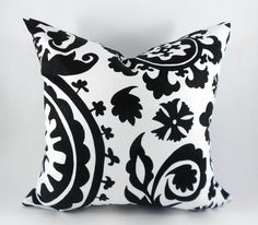 Pillow Cover Premier Prints Black and White by MyPillowStudio, $15.00