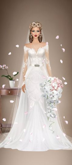 Barbie, Lace Wedding, Wedding Dresses, Covet Fashion, Fashion Sketches, Puzzles, Sexy, Beauty, Clothing Templates