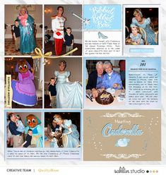 Meeting Disney Cinderella Princess digital Project Life scrapbook layout using Project Mouse (Princess) Cinderella | Kit & Journal Cards by Britt-ish Designs and Sahlin Studio