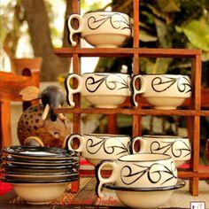 d9df2090144 Unravel India Crawl Print Ceramic Cup Saucer(Set of 6)  Teacups  Online