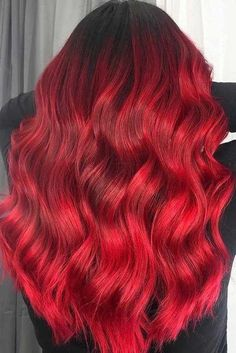 deep red hair best at home red hair dye red hair long wig manic panic rock n roll red light reddish blonde bright red wig – hair color blonde Deep Red Hair, Short Red Hair, Red Ombre Hair, Blond Ombre, Ombre Hair Color, Short Hair Styles, Natural Hair Styles, Red Hair On Brown Hair, Hair Colour