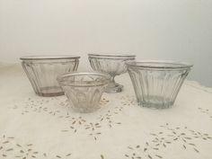 French vintage 19th jam Pots jam jars in antique glass handmade de la boutique VintagedeFrance sur Etsy