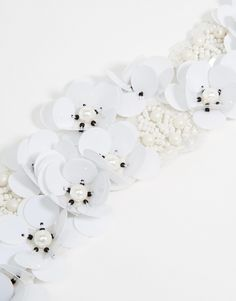 Image 3 of ASOS 3D Sequin Flower Headband with Beaded Embellishment
