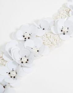 Image 3 ofASOS 3D Sequin Flower Headband with Beaded Embellishment