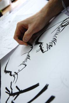 Latidos en Ocre. Álbum ilustrado de Manuel Mantecón. Work in progress. Bison, Arabic Calligraphy, Arabic Calligraphy Art