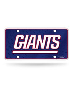 Loving this New York Giants Primary Logo Auto Plate on #zulily! #zulilyfinds