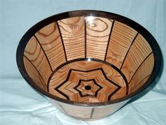 """Large Segmented Bowl Made from Coffee Tree and Black Walnut. Size 101/4"""" Wide and 5"""" Tall. This Bowl is finished with a FDA Approved coating."""