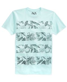 Add some warm-weather vibes to your look with this cool graphic-print T-shirt from Univibe. | Cotton/polyester | Machine washable | Imported | Crew neck  | Short sleeves | Graphic print at front  | We