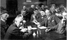 The Group of Seven seated around a table at the Arts & Letters Club, Toronto, c. Emily Carr, Maurice Denis, Paul Cézanne, Edouard Vuillard, Paul Gauguin, Henri Matisse, David Milne, Canada Economy, Franklin Carmichael
