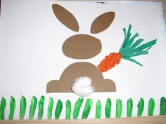 "Tapa projecte ""el conill"" a P3. Easter Art, Easter Crafts, Crafts For Kids, Arts And Crafts, Tapas, Art Projects, Projects To Try, Spring Art, Land Art"