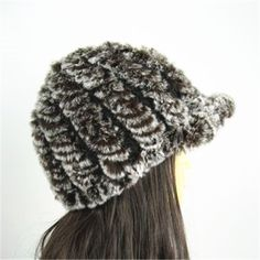 100% Real Genuine Soft Warm Rabbit Fur Hat Cap TM001