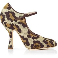 Vivienne Westwood Olly Mary Jane Shoes ($190) ❤ liked on Polyvore featuring shoes, leopard, leopard print shoes, leopard high heel shoes, high heeled footwear, high heel mary janes and leopard print high heel shoes