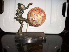 Vintage Art Deco Millefiori Lamp Pixie Dancer Halequin