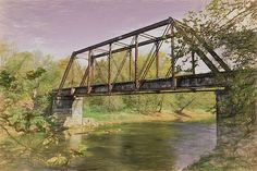 Old Southern Railroad Trestle Bridge on the Valley River by John M Bailey Valley River, Digital Art Gallery, Thing 1, Art Prints For Sale, Beautiful Dream, Autumn Art, Color Of Life, Pictures To Paint, Wonderful Images