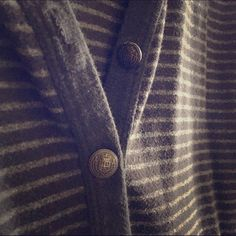 Gray striped cardigan US Size M/M, can also fit Small! Bought from forever 21 Forever 21 Sweaters