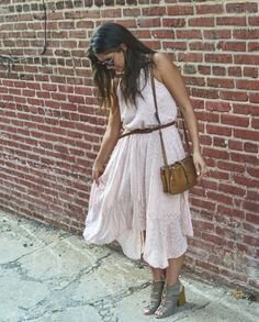 Affordable Style Blog // Blush Boho Dress // Click for shopping links