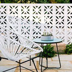 painted breeze blocks. Play with pattern - Modern Desert Plants & Garden Ideas - Sunset
