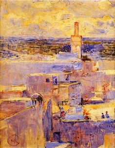 Theo van Rysselberghe - View of Meknes, Morocco, 1888, oil on canvas