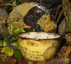 Tea:  A fortune-telling teacup for tea-leaf reading by Madame B Wishful www.madamebwishful.com