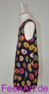 Kleidchen mit Reh und Pilz - linke Seite