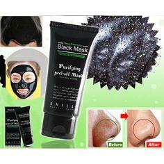 Deep Cleansing Purifying Peel Off Mud Blackhead Face Mask Black Mask Remove Black Head Makeup Beauty