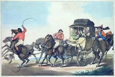 Thomas Rowlandson: The First Stage from Dover, 1785