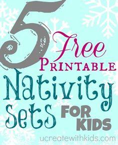 5 Free Printable Nativity Sets
