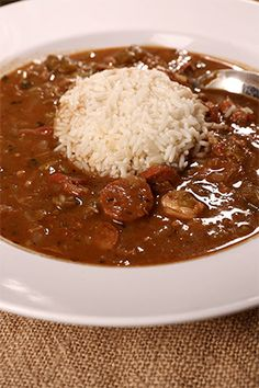A great gumbo recipe from mom that can be used with shrimp, okra or seafood. Creole Recipes, Cajun Recipes, Sausage Recipes, Seafood Recipes, Soup Recipes, Dinner Recipes, Cooking Recipes, Gumbo Recipes, Best Gumbo Recipe
