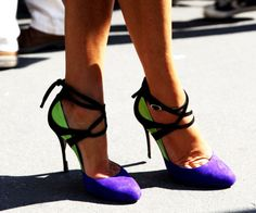 Purple & green should never been seen? We think it should! Love this color way. #ShoeTime
