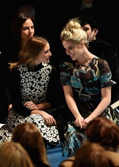 Olivia Palermo and actress Dianna Agron attend the Carolina Herrera fashion show during Mercedes-Benz Fashion Week Fall 2015 at The Theatre at Lincoln Center on February 16, 2015 in New York City.