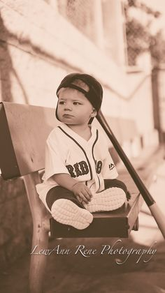 one year old photo. Red Sox
