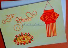 Diwali Greeting card Diwali Cards, Diwali Greeting Cards, Diwali Greetings, Greeting Cards Handmade, Diwali Festival, Happy Diwali, Festival Decorations, Drawing Tutorials, Goddesses