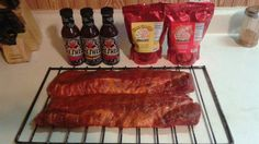 Photo by @HallBoyBBQ on Twitter. Our sauce paired up with Meat Church Rubs. #GetFed #TheShed #BBQ #Ribs #Rubs #Spices Embedded image permalink