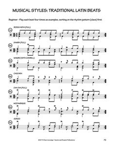 Latin styles drumset Drum Sheet Music, Drums Sheet, Drum Lessons, Music Lessons, Drum Rudiments, Drum Notes, Drum Parts, Drum Patterns, Gretsch Drums