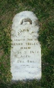 John F, adopted son of Henry Trisel, Zion Lutheran Cemetery, Chattanooga, Mercer County, Ohio. (2011 photo by Karen) #genealogy