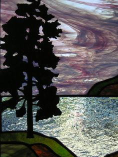 Great landscape background sets a wonderful stage for a copper overlay silhouette.