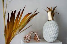 DIY piña blanca y dorada