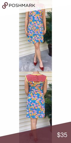 Uncle Frank Sleeveless Floral Dress Whimsical and oh-so-sweet! This sleeveless floral dress by Uncle Frank is in excellent pre-loved condition with a playful, bright print and cute open-back detail that is perfect for this summer! | 100% Polyester | Uncle Frank Dresses