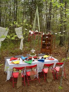 """Photo 1 of 38: Toadstools & gnomes! / Birthday """"Enchanted Woodland Tea Party"""" 