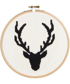 Stag Head Cross Stitch Kit