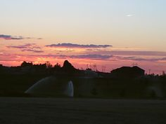 PT 14 NAMPA IDAHO. SUNSET OVER GOLF COURSE. SOUTHSIDE OF NAMPA. JUNE 15