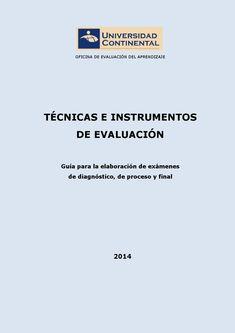 Técnicas e Instrumentos de Evaluación Guía de elaboración de instrumentos de evaluación