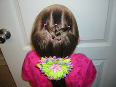 Going to do this hairstyle for Olivia. I hope she has enough hair!