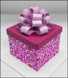 Free Gift box cake tutorial by Swank Cake Design