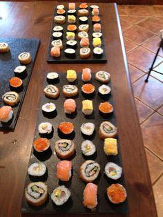 Detalle de los tipos de sushi