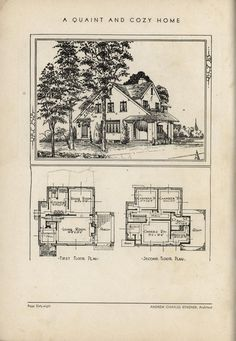 Quaint and Cozy Home by Architect Andrew Charles Borzner.    The book of beautiful homes. by Andrew C. Borzner Published 1932    BookReaderImages.php (1213×1755)