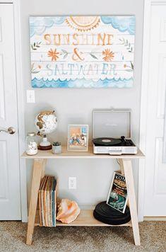 Beachy Room Decor, Beach Bedroom Decor, Room Ideas Bedroom, Bedroom Themes, Bedroom Inspo, Bedroom Designs, Beach Dorm Rooms, Teen Beach Room, Teenage Beach Bedroom