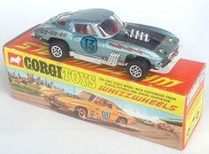 "Corgi 376  '63 Corvette Stingray ""Stock car"" with whizzwheels."